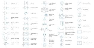 wiring diagram conceptdraw pro design elements composite assemblies electrical and telecom symbols
