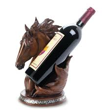 Decorative Wine Bottle Holders Wine Bottle Holders Funny Animal Single Bottle Holder Horse Wine 41