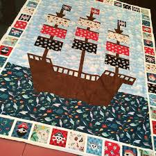 "2134 best Baby/kids quilts and crafts images on Pinterest ... & ""Making a pirate ship quilt from the new Makower #pirates fabric line."" Adamdwight.com"