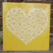 yellow wall art uk