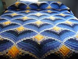 Bargello Quilt Tutorial | Bargello Flame Quilt Pattern Amish Made ... & Bargello Quilt Tutorial | Bargello Flame Quilt Pattern Amish Made Hand  Quilted Adamdwight.com