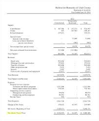 sample balance sheet for non profit non profit financial statement template non profit financial