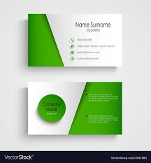 Green Card Template Modern Light Green Business Card Template Vector Image