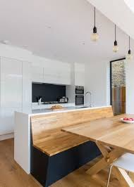 kitchen island with bench seating. Contemporary Kitchen By VORBILD Architecture Island With Bench Seating