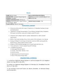 Board Design Engineer Sample Resume 5 Circuit 20 For Civil Free