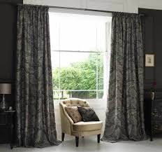 Living Room Window Curtains Decorating Brown Living Room Curtains Featuring Window Blinds