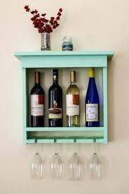 Luxurious Wood Wine Rack Itself Build Diy Wooden Shelf Mint Green Wine Rack  Himself Build For