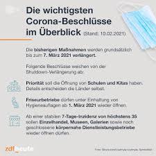 Thüringen will neben der inzidenz andere kriterien heranziehen, etwa die impfquote. Shutdown Wird Verlangert Bis 7 Marz Hoffnung Fur Friseure Zdfheute