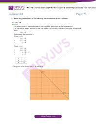 ncert solutions for class 9 maths chapter 4 linear equations in 2 variables part 9