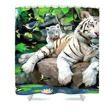 shower curtains white tiger shower curtain get quotations a city white and black tree print