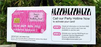 Credit Card Party Invitations Mall Scavenger Hunt Invitations Birthday Party Decorations