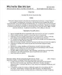 Plc Technician Resume Sample Industrial Electrician Resume Objective