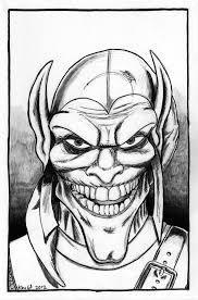Green Goblin Face Colo Spiderman Green Goblin Coloring Pages Az ...