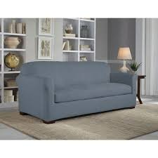 individual 2 cushion slipcovers idea appealing suede slipcovers for sofas suede couch protector spray grey colour long simple