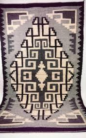 vintage navajo native american indian rug horse blanket black white grey