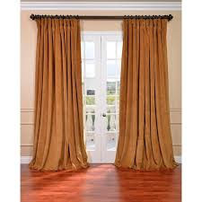 exclusive fabrics amber gold velvet blackout extra wide curtain panel 120 inch
