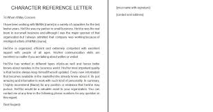 Personal Character Letter Samples 41 Free Awesome Personal Character Reference Letter