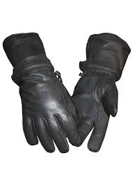 redline men s zip off cuff full finger fleece lining leather gloves black g 054 com