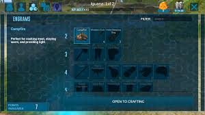 Ark Survival Evolved Mobile Guide How To Craft Tame