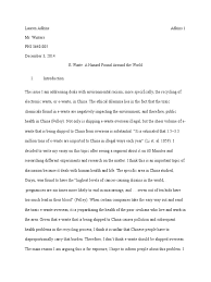 final essay e waste electronic waste recycling