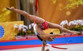 israel s linoy ashram performs during the individual all around final at the world rhythmic gymnastics