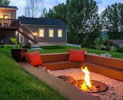 patio with square fire pit. Plain Fire Home Design Inspiration Extraordinary Sunken Pit 21 Awesome Ideas To Steal For Cozy Nights On Square I . Patio With