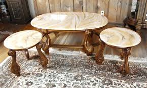 gold and marble end table free french provincial coffee table and two end tables with simulated gold and marble end table