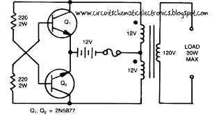 12 volt battery inverter circuit diagram wirdig simple inverter circuit from 12 v up to 120v electronic circuit