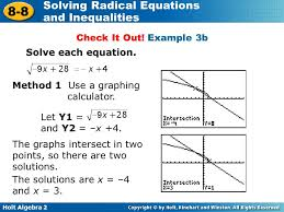 example 3b solve each equation method 1 use a graphing calculator