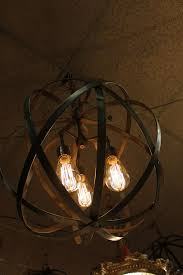 light fixture strap light fixture strap industrial sphere chandelier metal strap by thelightingpalace