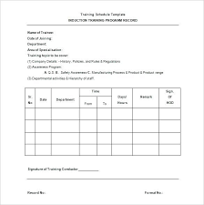 Sample Training Agenda Adorable Training Schedule Program Template Simple Plan Example Tangledbeard