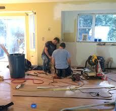 Kitchen Hardwood Floor Kitchen Progress Staining Hardwood Floors Jenna Burger
