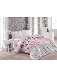 3 piece lia quilt cover set white pink green double
