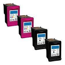 Buy hp d1663 ink cartridges at inkfarm.com. Remanufactured Hp 60xl Inkjet High Capacity Pack 4 Cartridges