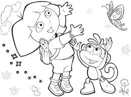 Fascinating Dora The Explorer Colouring Printable Coloring Pages