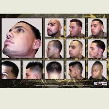 Contemporary 2 Set Haircut Chart Clipper Cut Barbershop Posters