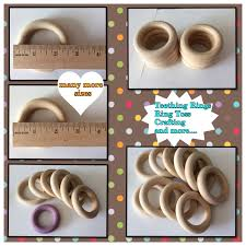 silk 100 wooden rings in various sizes wedding game ring toss teethers