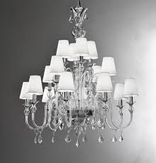modern lighting shades. modern murano chandelier with clear glass and white lampshades crystal drops l16k lighting shades t