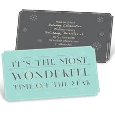 Ticket To Wonderland Holiday Party Invitations Pear Tree
