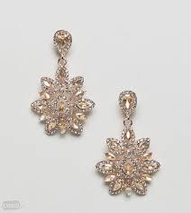 true decadence pink statement earrings gold zdjęcie 1