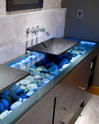 unique bathroom lighting ideas. Brilliant Lighting Stone Vanity On Unique Bathroom Lighting Ideas O
