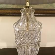 single cut glass table lamp antique lighting antique glass lamps