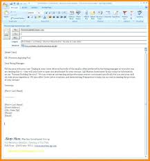 Template For Email Cover Letter Stagingusasport Info