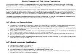 Project Manager Job Description Channel Marketing Manager Job Description Mous Syusa