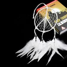 handmade white feather dream catcher feather car wall hanging decor craft