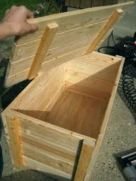 pdf diy outdoor wood storage chest plans outdoor