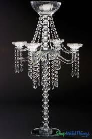 crystal tabletop candle chandelier bella luna w fl bowl 31 1 2