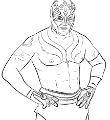 Rey Mysterio Drawings Printable Coloring Pages Sheets Lovely Mask