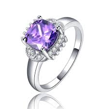 Square Shape Ring Design Us 4 5 Luxury Square Shape Purplecolor Cubic Zircon Women Wedding Ring Cute Design New Model Jewelry Gift For Lady Nartul Gems Ring In Rings From