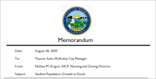 Student Population Growth In Doral (Memorandum) | Doral4Education